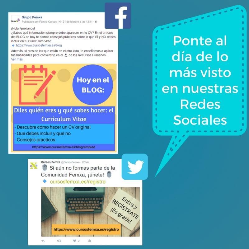 redes sociales femxa newsletter
