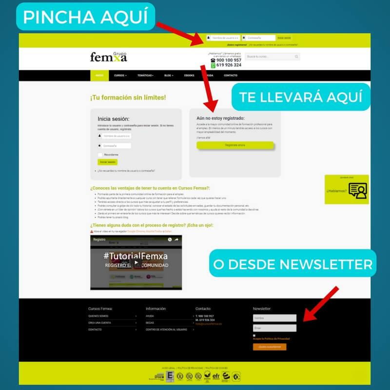 Registro Grupo Femxa Newsletter