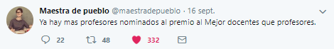 Twitter Maestra de Pueblo