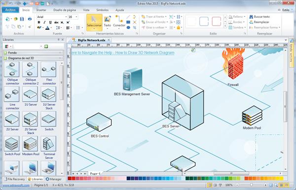 Programa usado por un administrador de redes para diseñar redes departamentales