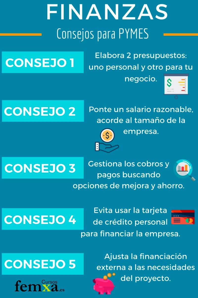 infografía sobre consejos para pymes de gestión financiera
