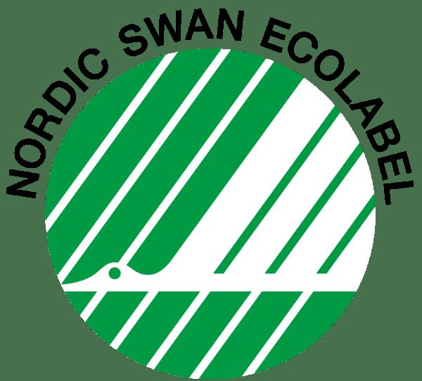 logotipo del cisne nórdico etiqueta ecológica