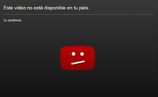 vídeo no disponible en youtube