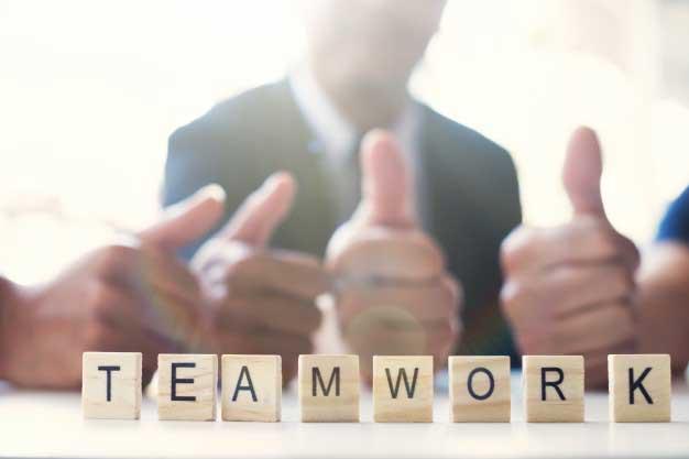 imagen que describe el trabajo en equipo