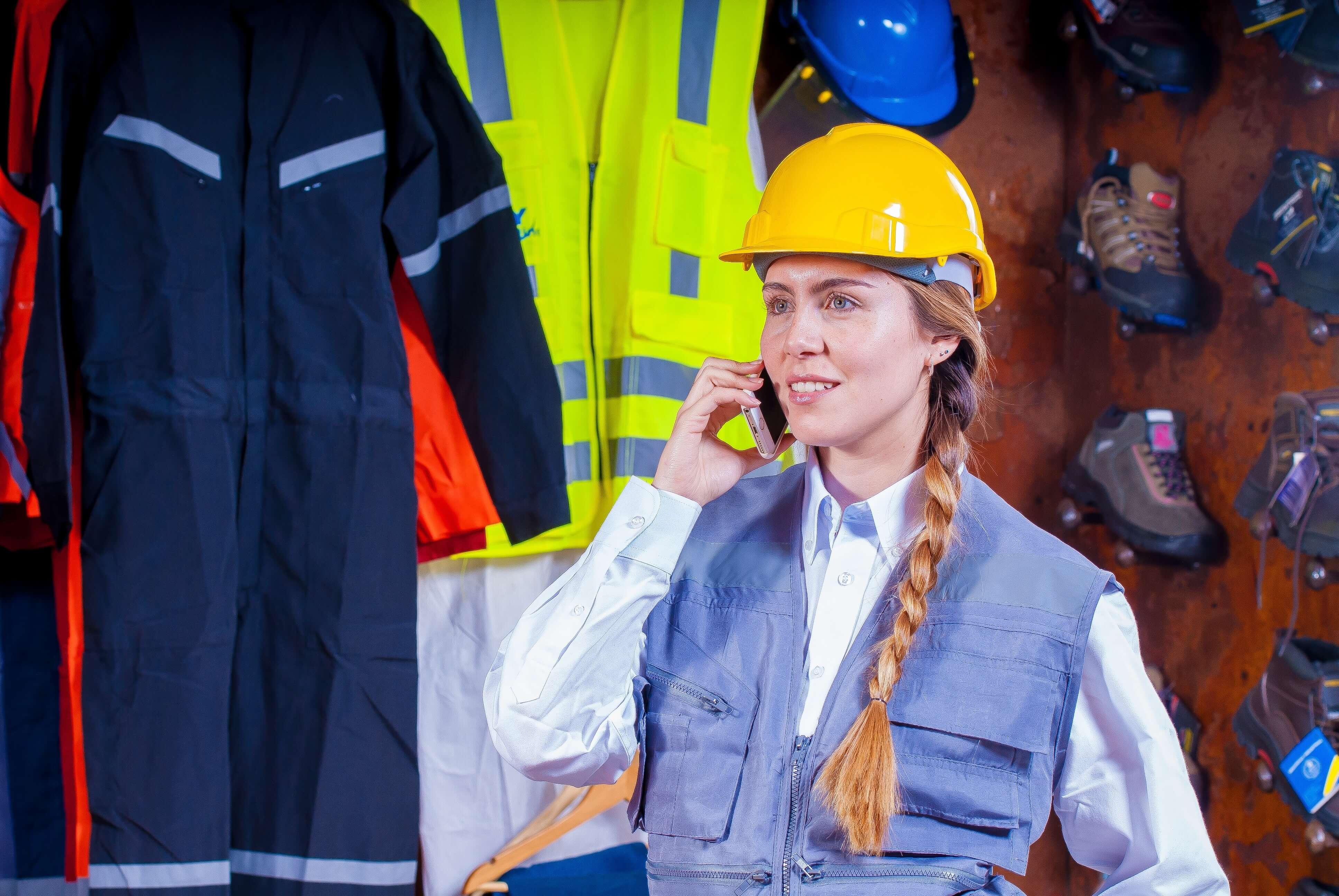 Trabajadora del sector metal