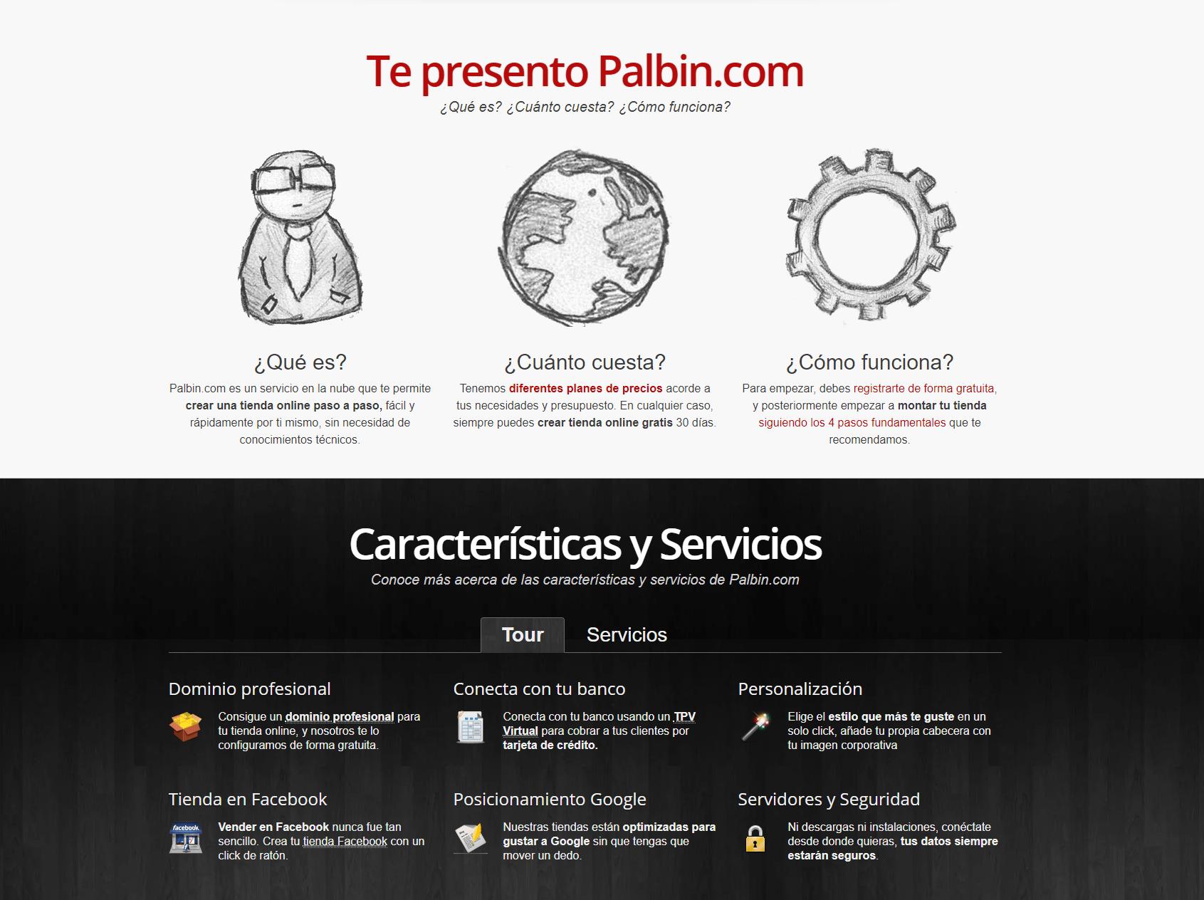 Plataforma Palbin para crear una tienda virtual