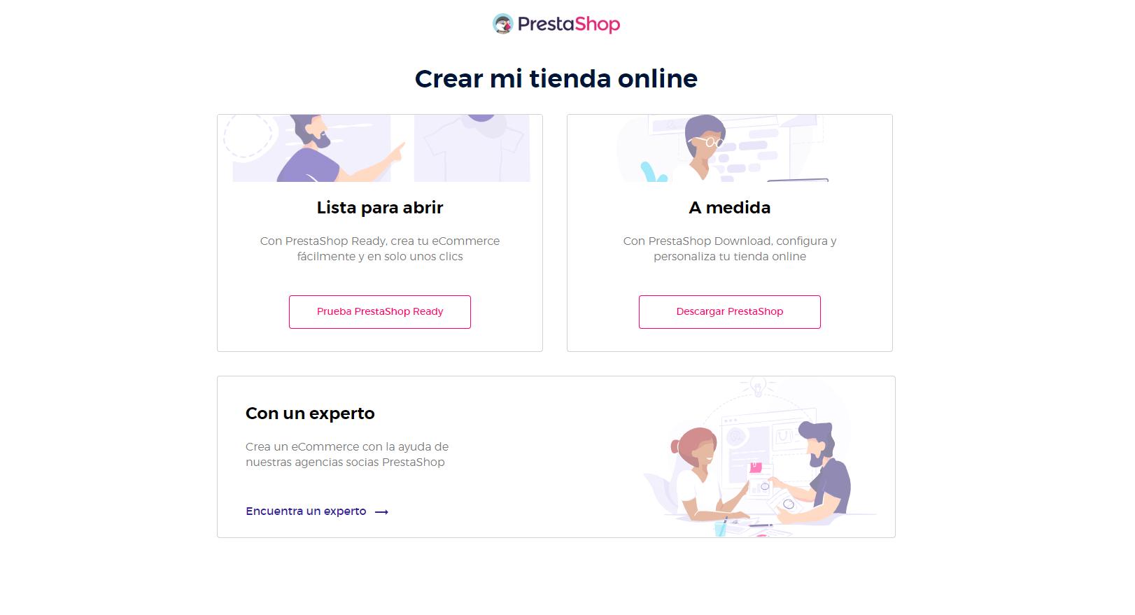 Plataforma Prestashop para crear una tienda virtual