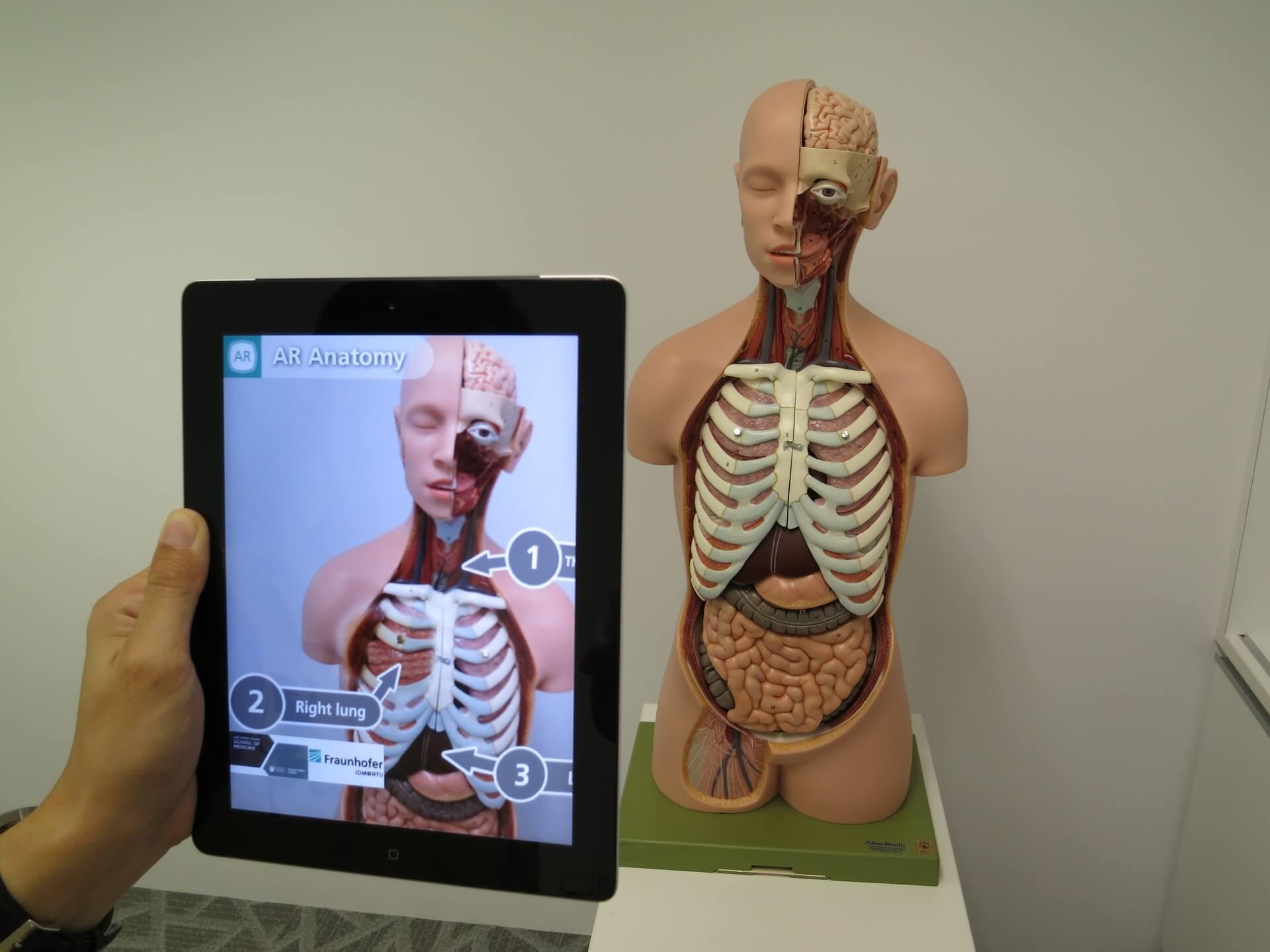 Realidad aumentada del cuerpo humano