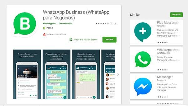 web de descarga de whatsapp business, aplicación de mensajería para negocios