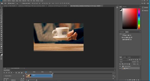 como usar photoshop para el formato de vídeo