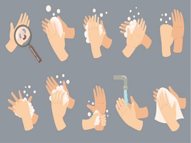 Infografía de higiene sanitaria sobre como lavarse las manos