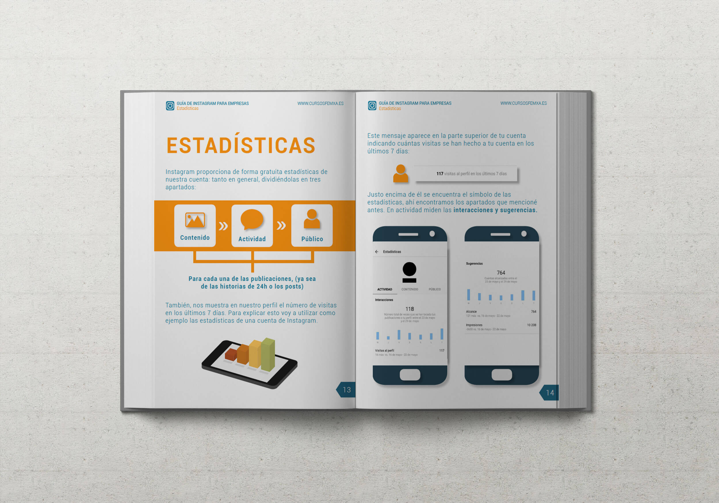 Detalle interior ebook Instagram para empresas