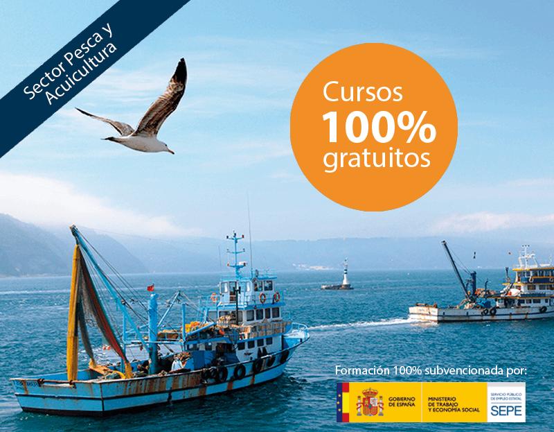 Cursos online gratuitos para trabajadores del Sector Pesca y Acuicultura