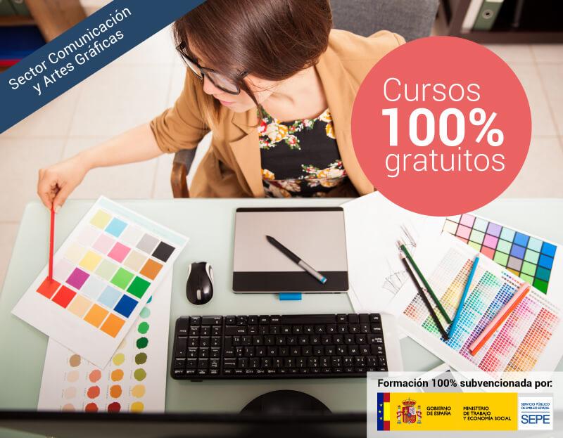 Cursos online gratuitos para trabajadores del Sector Comunicación y Artes Gráficas