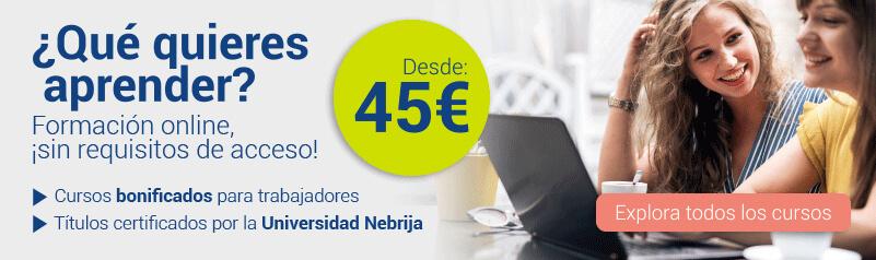 Formación online desde 45€