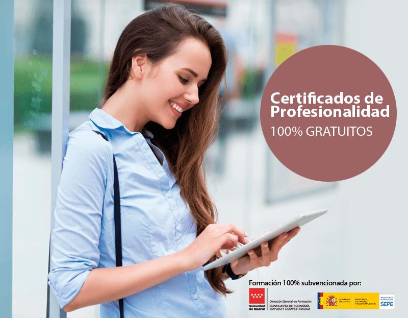 Certificados de Profesionalidad para trabajadores de Madrid