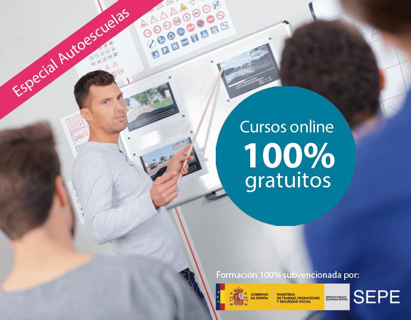 Cursos online gratuitos para trabajadores de Autoescuelas