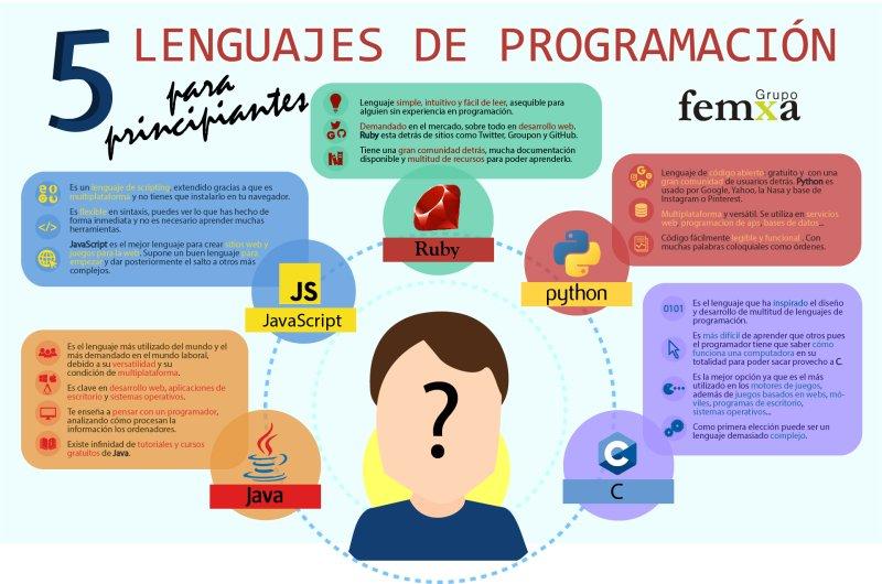 5 Lenguajes de programación para principiantes