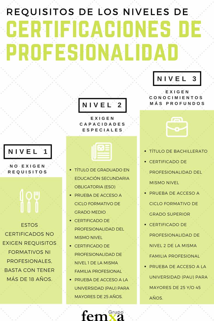 Cuáles Son Los Niveles De Certificados De Profesionalidad