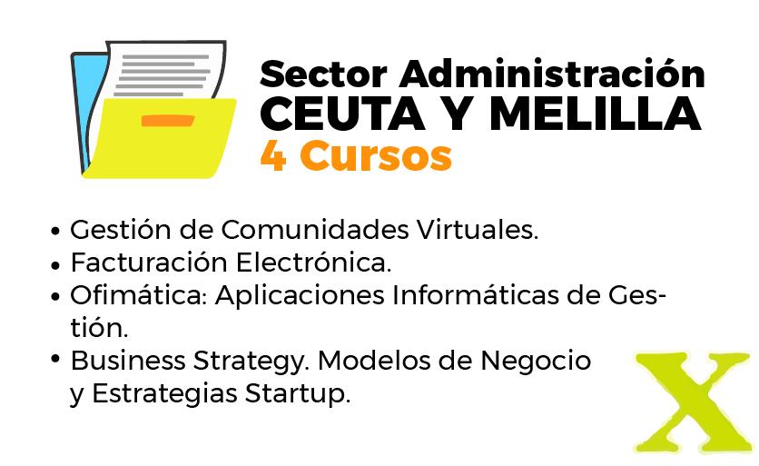 Cursos del inem en Ceuta y Melilla sector administración