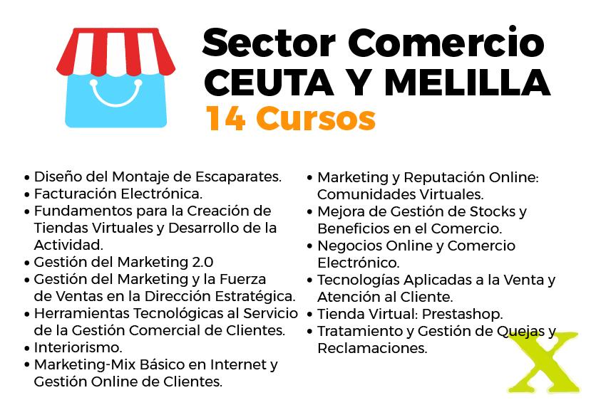 Cursos del inem en Ceuta y Melilla sector comercio