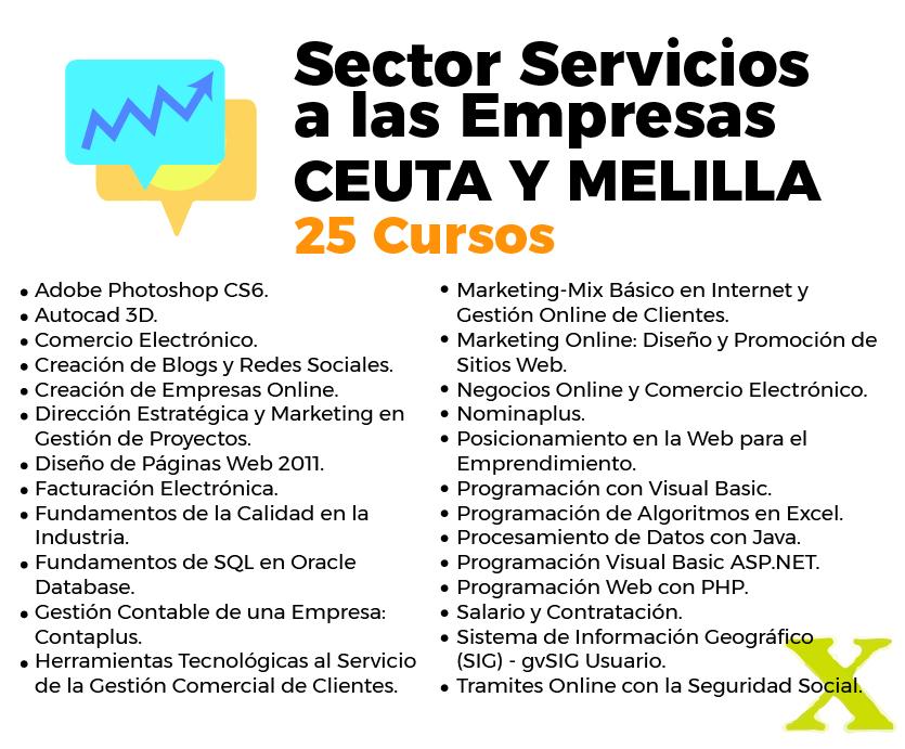 Cursos del inem en Ceuta y Melilla servicios a las empresas