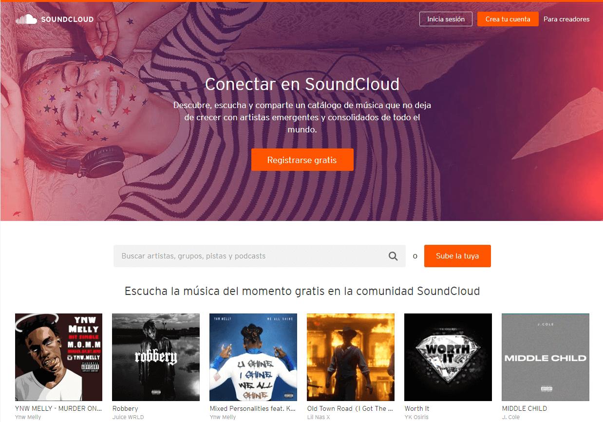 Soundcloud es una de las plataformas para podcast más famosas
